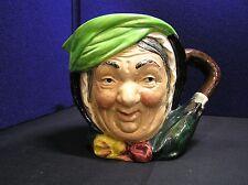 """Vintage Royal Doulton Toby Mug Jug Pitcher Sairey Gamp Character Pottery 6.1/4"""""""