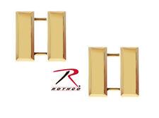Polished Gold Finish Captain's Bars Uniform Insignia Pin Set - USA Made! 1712