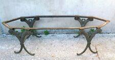 Eccezionale struttura in ottone per tavolino da salotto anni '50