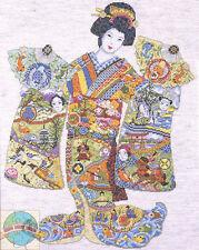 Cross Stitch Kit ~ Design Works Japanese Geisha w/Intricate Art Kimono #DW9993