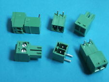 10 pcs Pitch 3.81mm Angle 2way/pin Screw Terminal Block Connector Pluggable Type