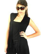 Ladies Knit Vest Jacket Drape Cardigan Wrap Jacket Women One Size Black New