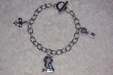 Fleur-De-Lis, Key, & Owl Charm Bracelet Kappa Gamma KKG