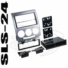 MAZDA 5 Radioblende Einbau Rahmen 2 Doppel DIN Radio Blende silber 381170-10 ACV