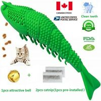 CAN stock-2pcs Interactive Cat Toothbrush Catnip Silicon chew toy lobster FDA