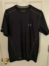 Men's Small Fitted UNDER ARMOUR Heat Gear Black Shirt