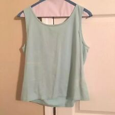 Caslon Women's Size M Sleeveless Top Shirt Sol Tank Cami Solid Mint Casual