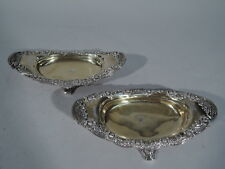 Tiffany Chrysanthemum Bowls - 10747 - Antique Pair   Sterling Silver