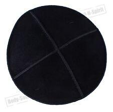 Black Leather Beanie Kippah Yarmulke Kippa Israel Tribal Jewish Hat Covering Cap