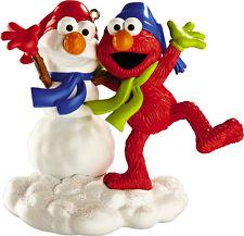 "Elmo & Snow Buddy  ""Sesame Street"" Carlton Cards 2012 Ornament"