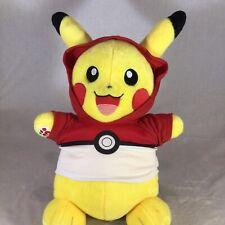 "Build a Bear Workshop Pokemon Pikachu Plush Pokeball Hoodie 18"""