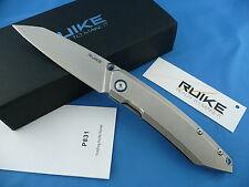 Ruike P831-SF Compact Frame Lock Folder Knife Beta Plus Lock Stone Washed 14C28N