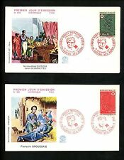Postal History France FDC #B461-B462 SET OF 2 Red Cross medical related 1972