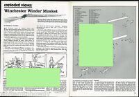 1981 WINCHESTER Winder Musket Exploded View Parts List Assembly Article