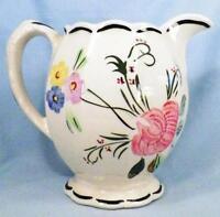 Blue Ridge Southern Potteries Suwanee Grace Pitcher Vintage Flowers As Is