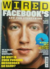 Wired UK Nov 2015 Facebook Mark Zuckerberg App For Everything FREE SHIPPING sb