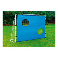 LEGLER Small Foot Football Goal with Goal Wall Outdoor Toy, White/Blue