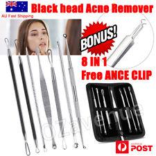 8Pcs Blackhead Whitehead Pimple Spot Comedone Extractor Remover Popper Tool Kit
