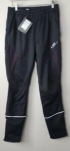 4ucycling Mens Winter Sports cycling Pants Black lameda black Medium