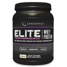 Cenegenics Elite Performance Whey Protein Powder- Vanilla- Grass-Fed, Non GMO
