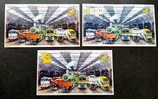 *FREE SHIP Malaysia Train 2010 Railway Locomotive Vehicle (complete set ms) MNH