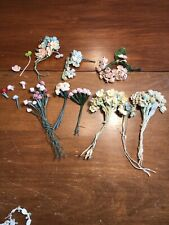 Vintage Miniature Dollhouse Millinery Bouquet Mixed FLOWERS Doll House Lot