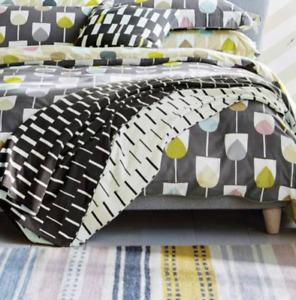 Scion Living Sula Throw Blanket Scion 150 X 200cm Graphite NEW RRP £95