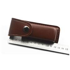 "5"" Hot Cowhide Leather Sheath Pocket Folding Knife Multi Tool Case Pouch"