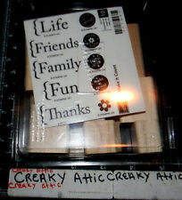 STAMPIN UP MAKE IT COUNT 10 RUBBER STAMPS LIFE FAMILY FUN FRIENDS