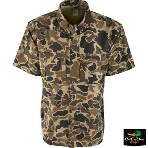 DRAKE WATERFOWL EST WINGSHOOTER'S SHIRT SHORT SLEEVE OLD SCHOOL CAMO