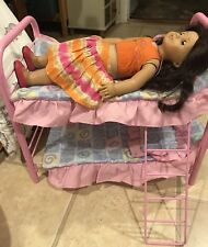 American Girl Doll Pink Bunk Bed Blankets And Pillows