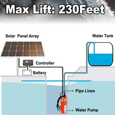 "3"" Submersible Deep Well DC Solar Water Pump Bore Pump / Alternative Energy"