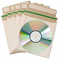 50 CD CD-R DVD Mailers Envelopes Mailer with Seal Post Protect Envelope Cover