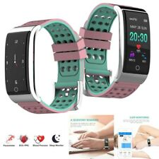 Men Women Heart Rate Monitor Wristband Notifications for iPhone Samsung LG Nokia