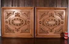 Pair of French Antique Renaissance Revival Panels in Solid Walnut Wood