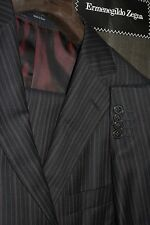 $2895 Ermenegildo Zegna Navy Striped Wool Suit 38R 33W Nieman Marcus Italy