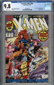 Uncanny X-Men #281 CGC 9.8 NM/MT 1st App of Trevor Fitzroy & New X-Men Team WP