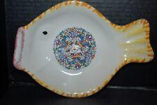 MOMA Ceramiche Artigianali Lavorate a Mano Fish-Shaped Serving Bowl