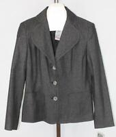 RQT Womens Ladies Black Metallic Thread 3 Button Blazer Jacket Size 10 NEW