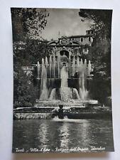 Vintage Italian B&W Postcard c1960s Villa d'Este Tivoli -Organ Fountain