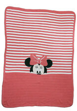 Disney Minnie Mouse Knit sweater like  Baby  Blanket - Girl - Rose  - Very  Rare