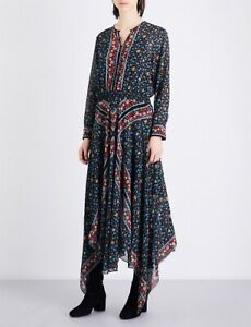 Maje @ Net A Porter Selfridges Harrods Midi Maxi Floral Dress Size 2 UK 10