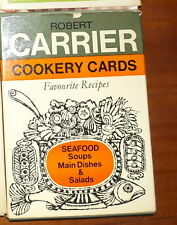 Vintage Robert Carrier Cookery Cards 20 Favourite Recipes Seafood Soups Mains