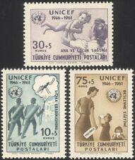 Turkey 1961 UNICEF/Child Welfare/Health/Medical/Malaria/Insects 3v set (n29024)