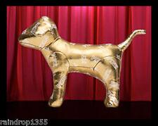 Victorias Secret PINK FASHION SHOW Limited Edition Gold Metallic Mini Dog 2014