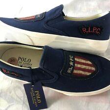 Polo Ralph Lauren Thompson USA Flag Shield Men's Size 7.5 R.L.P.C. Shoes NEW