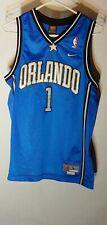 Nike Tracy McGrady Vintage NBA Jersey Orlando Magic 1 Throwback Blue Youth Large