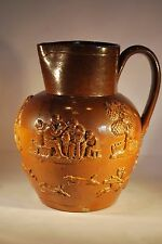 Mortlake Stonewear Jug with Hunting Sprigging Detail         #508