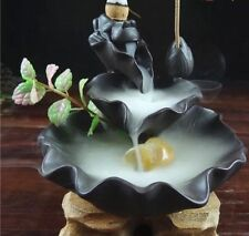 "Ceramic Backflow Incense Holder Combination Burner ""Frog Fountain"""