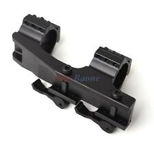 Black 30mm/25.4mm Dual Ring Cantilever Quick Release Scope Rail Mount
